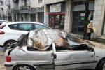 Cosenza, albero pericolante cade sulle auto: le proteste dei residenti