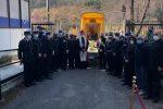 Cosenza, l'icona della Madonna del Pilerio in visita al comando dei Vigili urbani e al cimitero