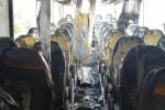 Nonostante l'intervento dell'autista e dei Vigili del Fuoco, il mezzo è andato completamente distrutto