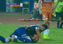 India, raptus dopo un contrasto: morde l'avversario Un momento di follia ha colpito Edu Bedia - Dalla Rete