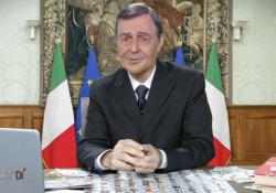 La tombola di Mario Draghi (secondo Neri Marcorè) L'attore di nuovo nei panni del presidente del Consiglio a «diMartedì» su La7 - Corriere Tv