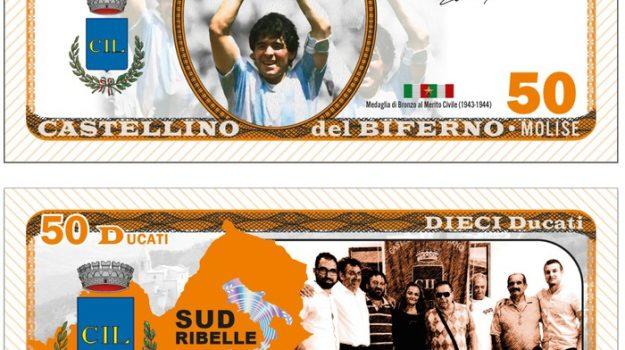 banconote, calcio, pesos argentini, valute, Diego Armando maradona, Enrico Fratangelo, Sicilia, Sport