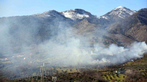 castrovillari, incendio, Piano del Campo, san basile, Cosenza, Cronaca