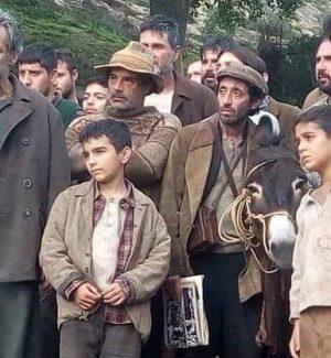 """Il giovane attore Giulio Cuzzilla (al centro) in una scena di """"Aspromonte"""""""