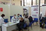 Nella sala Monteleone di Palazzo Campanella a Reggio vengono somministrati vaccini agli ultraottantenni