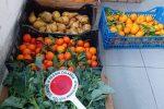 Derrate alimentari (per di più ortaggi e frutta) in ottimo stato di conservazione, dunque donate in beneficenza