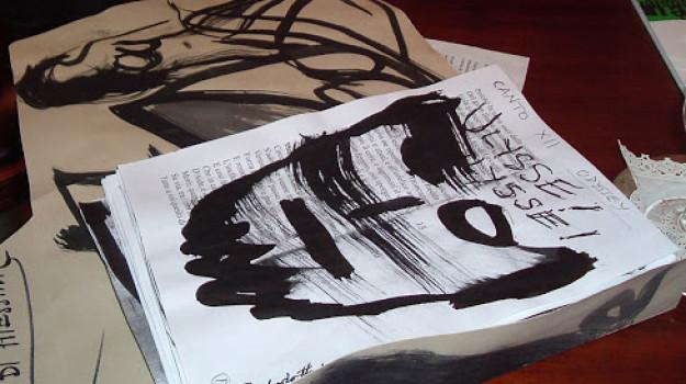 Lawrence Ferlinghetti. Uno degli schizzi realizzati sullo Stretto