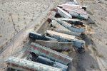 Deraglia treno merci in California: le immagini del disastro - FOTO E VIDEO