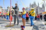 Foto LaPresse - Claudio Furlan26/03/2021 - Milano (Italia)NewsManifestazione circensi in Piazza Duomo contro le chiusure per il coronavirusPhoto LaPresse - Claudio Furlan26/03/2021 - Milano (Italia)Circus workers demonstration in Piazza Duomo against lockdown
