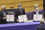 Vertici Ue firmano dichiarazione sulla Conferenza sul futuro d'Europa