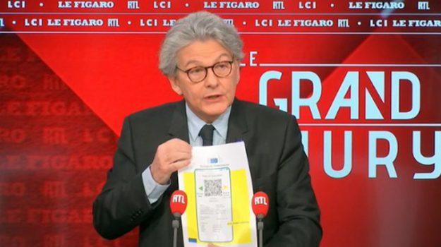 coronavirus, passaporto sanitario, vaccini, Thierry Breton, Sicilia, Cronaca