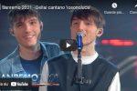 """Dellai cantano """"Iosonoluca"""" a Sanremo 2021 - VIDEO"""