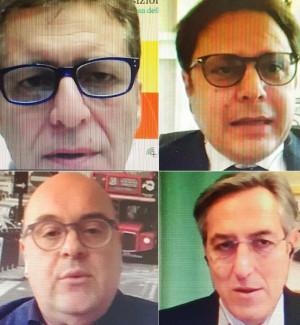 Ferrara, Amarelli, Fortunato e Branda durante il webinar
