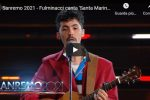 "Fulminacci canta ""Santa Marinella"" Sanremo 2021 - VIDEO"