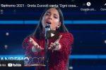 """Greta Zuccoli canta """"Ogni cosa sa di te"""" a Sanremo 2021 - VIDEO"""
