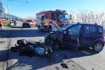 Scontro auto-moto a Siderno. Grave donna di Roccella trasportata in elisoccorso a Reggio