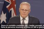 """Stop export vaccino AstraZeneca, premier Australia: """"Capisco Italia, ha 300 morti al giorno"""""""