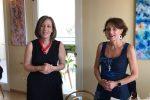 La senatrice Silvia Vono insieme al ministro Elena Bonetti