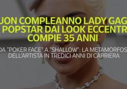 """Buon compleanno Lady Gaga: la popstar dai look eccentrici compie 35 anni Da """"Poker face"""" a """"Shallow"""": la metamorfosi dell'artista in tredici anni di carriera - Ansa"""