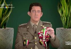 Crozza per la prima volta è il generale Figliuolo Il comico imita il nuovo commissario all'emergenza Covid - Corriere Tv
