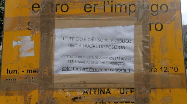 cartello, catanzaro, centro per l'impiego, Catanzaro, Cronaca