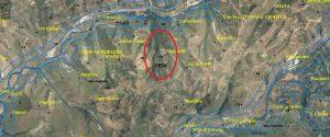 L'area dove dovrebbe essere realizzata la discarica a Dinami