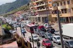 """Lavori """"improvvisi"""" in tangenziale tra S. Filippo e Tremestieri: caos anche sulla statale. IL VIDEO"""