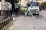 Viale Isonzo a Catanzaro, intervento straordinario della Sieco su carrellati e strade
