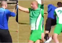 La dura vita dell'arbitro: inseguito e attaccato dai giocatori dopo il cartellino giallo L'episodio durante una partita nella quarta lega del calcio in Bulgaria - CorriereTV