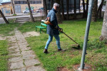 Lamezia Terme, i volontari di Casapound riqualificano la villetta Adelchi Argada - FOTO