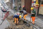 Messina, fuga di gas per i lavori di posa della fibra ottica