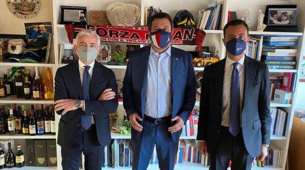 lega, Matteo Salvini, nino germanà, Nino Minardo, Messina, Politica