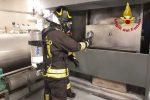 Messina, incendio al forno crematorio del Gran Camposanto. Intervento dei vigili del fuoco