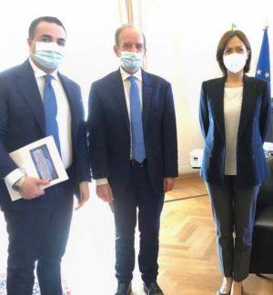 Il deputato forzista Francesco Cannizzaro, il magnifico rettore di Reggio Calabria Marcello Zimbone e la ministra Mara Carfagna