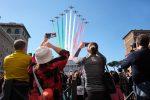 25 aprile, Frecce Tricolori nei cieli di Roma