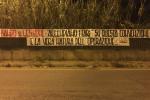 """Concessione pluriennale stadio """"Scoglio"""", striscioni dei tifosi rivolti al Comune"""