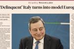 """Dal Financial Times elogio a Draghi ma schiaffo all'Italia """"delinquente"""""""