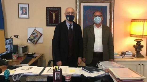Mario Bolognari ed Orlando Russo, sindaci di Taormina e Castelmola