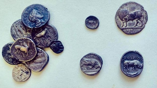 monete, Parco archeologico di Sibari, Cosenza, Cronaca