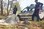 Scaricava rifiuti nei boschi della Sila, inchiodato dalla polizia provinciale