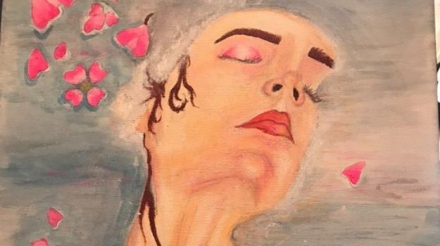 Torneremo un giorno alla serenità dimenticata, la tela del giovane reggino Giuseppe Mamone