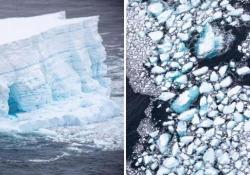 Antartide, si è sciolto A68: era l'iceberg più grande al mondo con 6mila metri quadrati di superficie La montagna di ghiaccio si era staccata dall'Antartide nel 2017 - Ansa