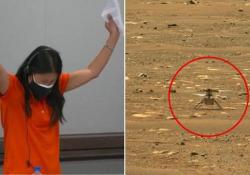 Ingenuity, il primo storico volo del mini elicottero della Nasa su Marte Il test è durato pochi secondi: dopo il decollo l'atterraggio in verticale tra gli applausi dei tecnici della Nasa - Corriere Tv