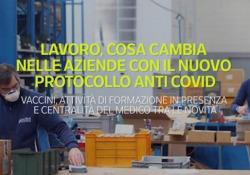 Lavoro, cosa cambia con il nuovo protocollo anti Covid Vaccini, attività di formazione in presenza e centralità del medico tra le novità - Ansa