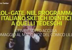 Lol, nel programma italiano sketch identici a quelli tedeschi A finire sotto accusa l'omaggio al mago Lioz del comico Lillo - Ansa