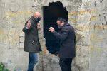 Il sopralluogo del 16 dicembre del sindaco De Luca col presidente dell'Amam Puccio ai serbatoi Montesanto di Messina