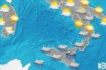 Meteo: allerta maltempo per domani in Sicilia
