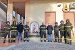 Taverna, inaugurata la statua di Santa Barbara patrona dei vigili del fuoco
