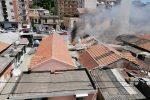 Messina, paura per un incendio scoppiato in una baracca di Camaro San Paolo