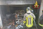 Spadafora, garage in fiamme. A fuoco due macchine ed una bombola di GPL